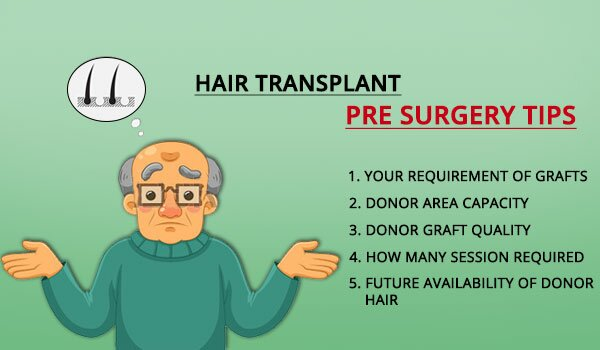 Hair Transplant Pre Surgery Tips